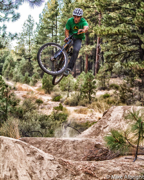 Paul LaCava at the Slalom Play loop near Bend, Oregon.  photo: mike albright