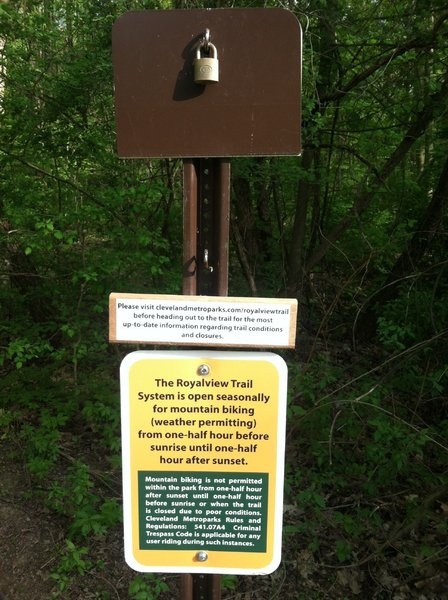 The trail closure signs at the trailheads.