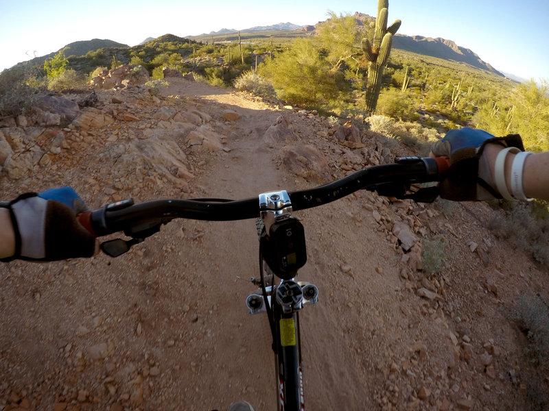 Cruisin' down Upper Ridge Trail