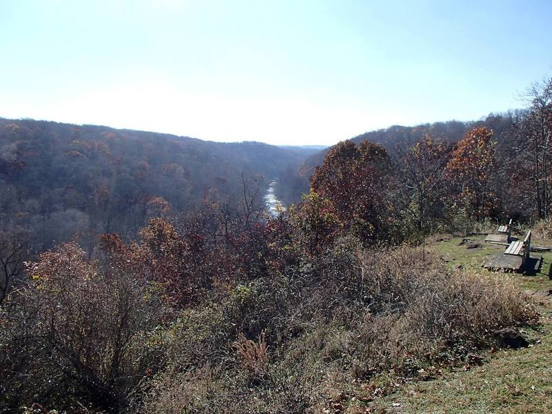View from the overlook just down the path from the route.  One of the best views in Patapsco.