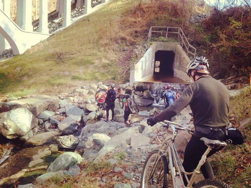 Hike-a-bike under Rt. 40 bridge