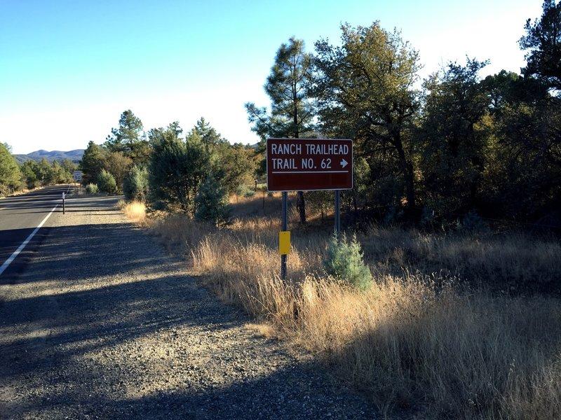 Ranch Trailhead on Walker Rd