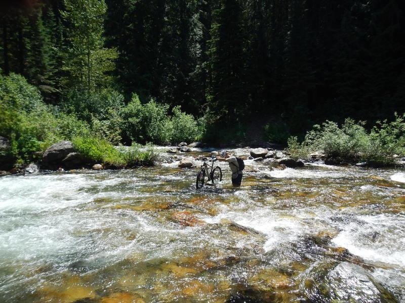 Crossing Marble Creek, July 2014