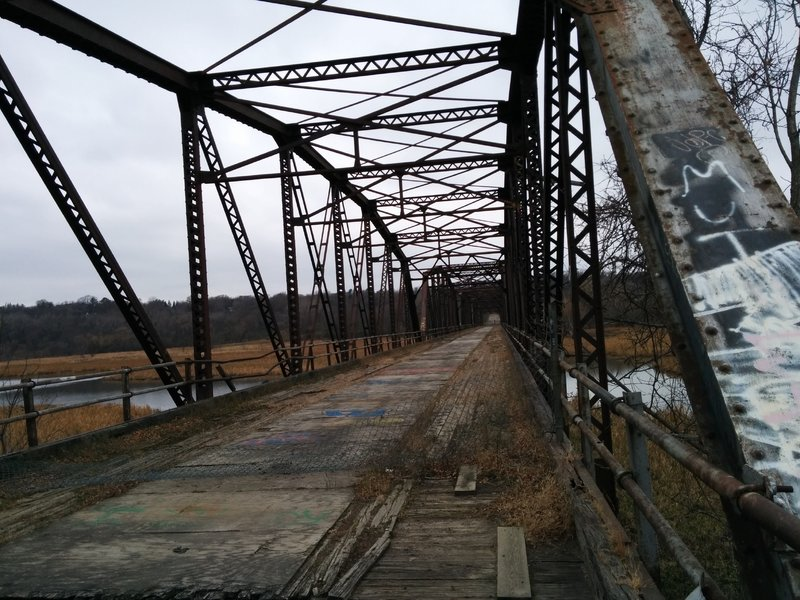 Old cexarave bridge. Currently closed, but there are plans to restore it.