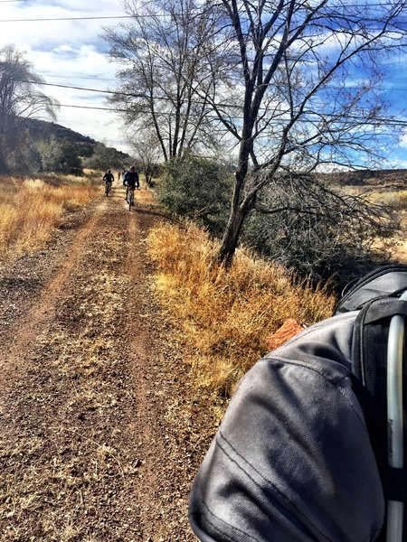 The railroad grade leading to Sundog Ranch Trail