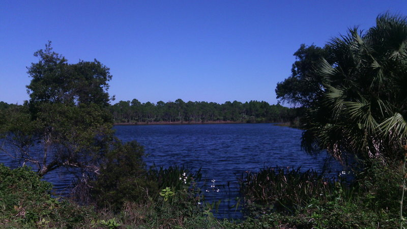 Lake view from Corridor Trail