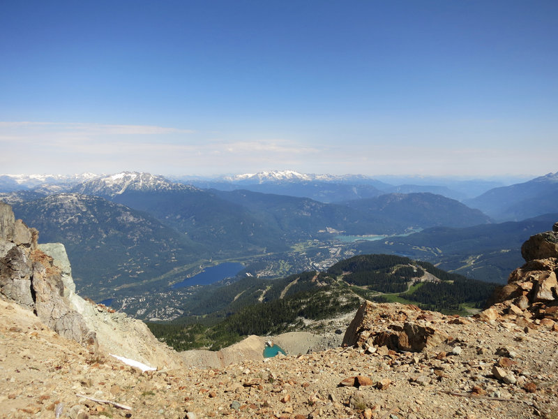 Whistler Valley from the Peak in summer.