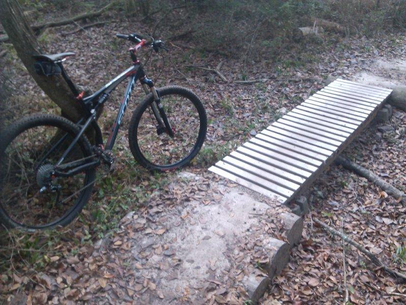 Small ladder bridge.