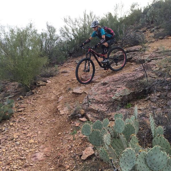 Down the final switchback