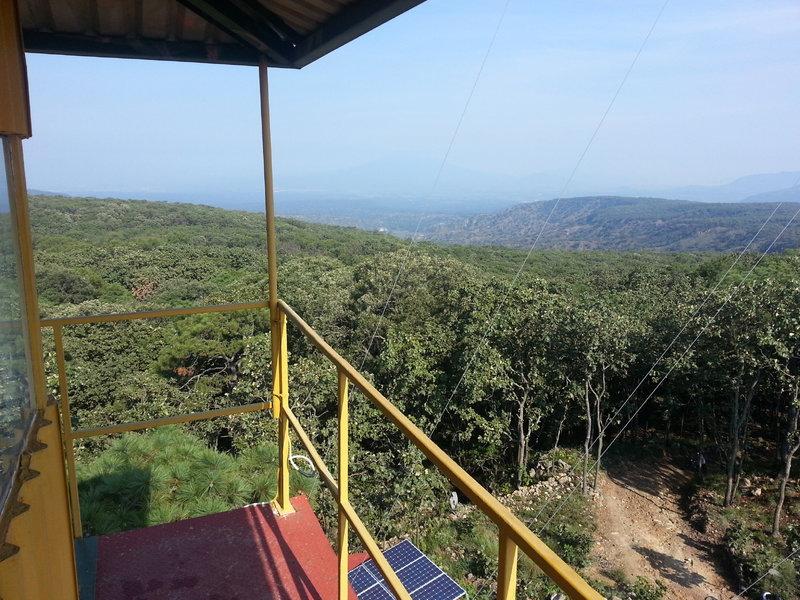 Vista desde arriba de la torre de vigilancia