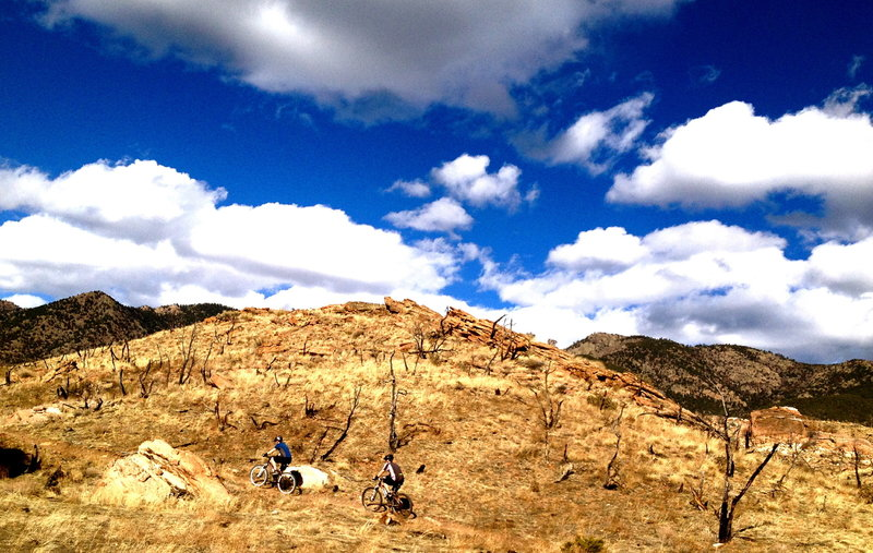 Unconformity under the blue sky at Oil Well Flats