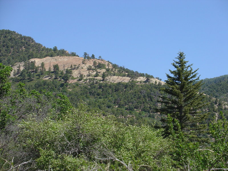The west buttress of the Uncompaghre Plateau.