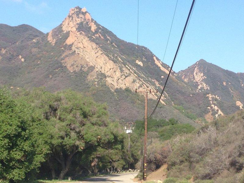 Ride park road to trailhead