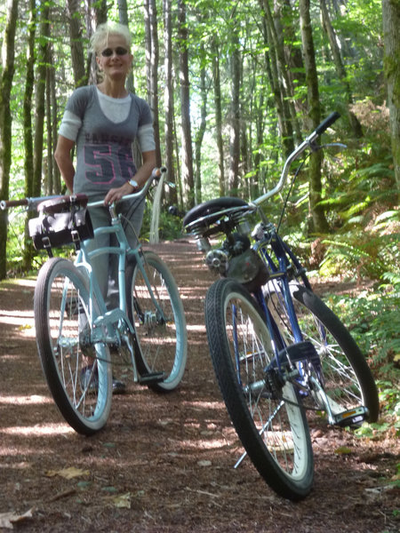 Interurban Trail is easily accessible by any type of bicycle!