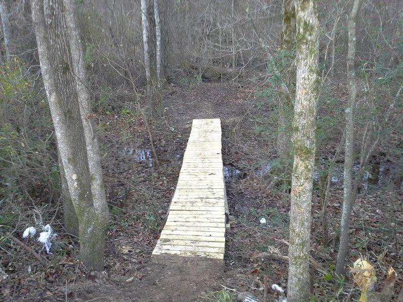 Bridge through gum lagoon right after a sweet drop!