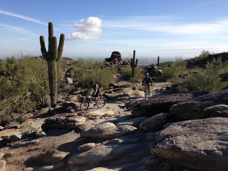 Classic desert riding along National Trail.