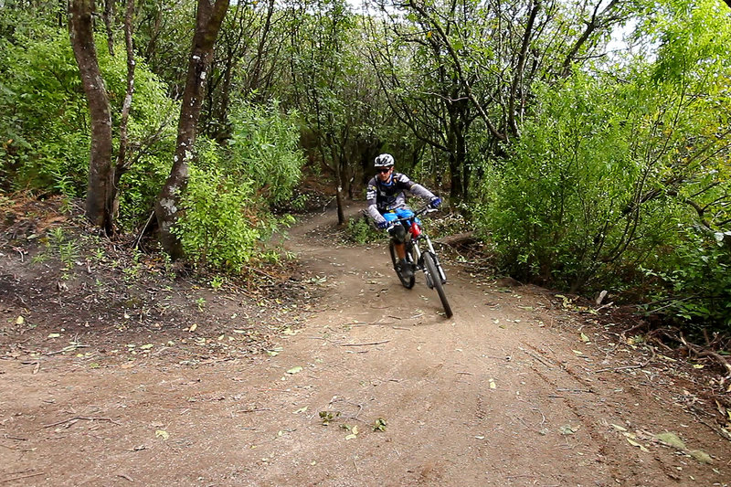Climbing out of Kinloch onto the Headland on the W2K mountain bike trail