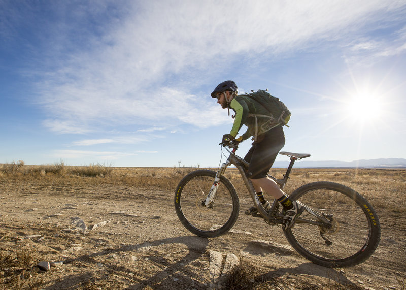 Pronghorn trail is flat, open and the main connection from Inner Limits trail to Outer Limits trail and Voodoo Loop