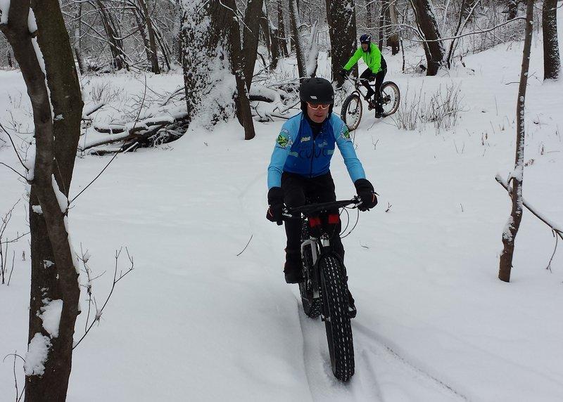 Fat biking in January