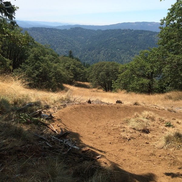 One of the many epic views from the new trail system built in 2014 that features flow style trails- on Pine Ridge Trail
