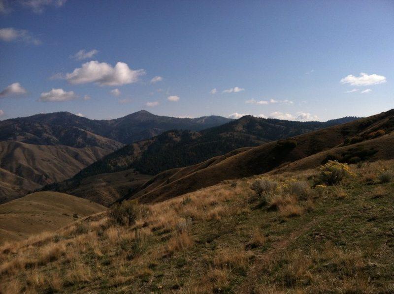 A nice view towards Bogus Basin.