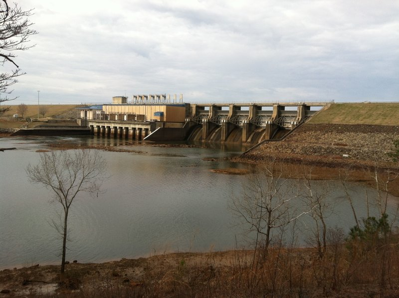 This great view of West Point Dam can only be had from the Hack-n-Yack trail.