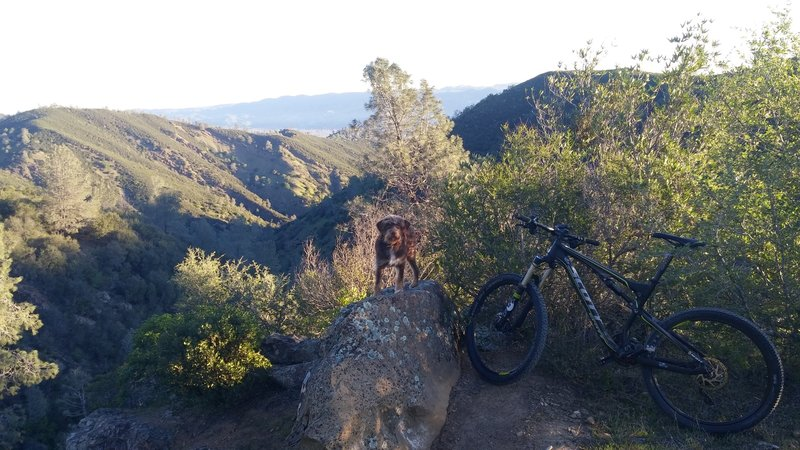 Checking out the view point on Pierce Canyon Climb