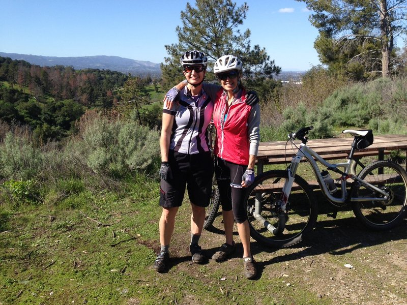 Top of the hill with views of the Silicon Valley - Oak Ridge Trail