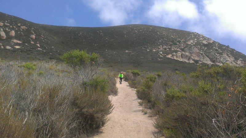 Descent down the Quarry Trail