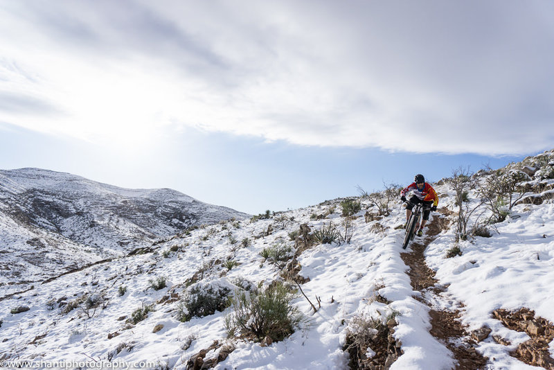 Descending Techno after a rare snow in Cottonwood