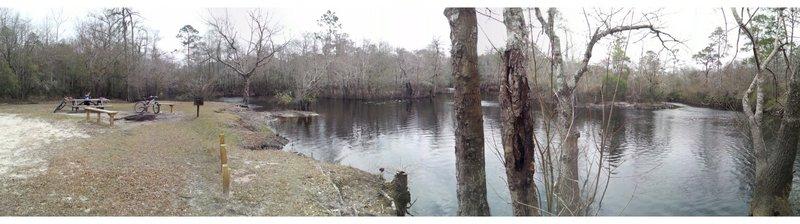 Picnic area at river near Dutch & Faye Tymann trail