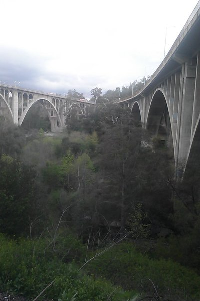 Pasadenas Arroyo Seco Bike Trail. The weather is always nice over here. Very woodsy areas! Also hiking and horse trails all over to.