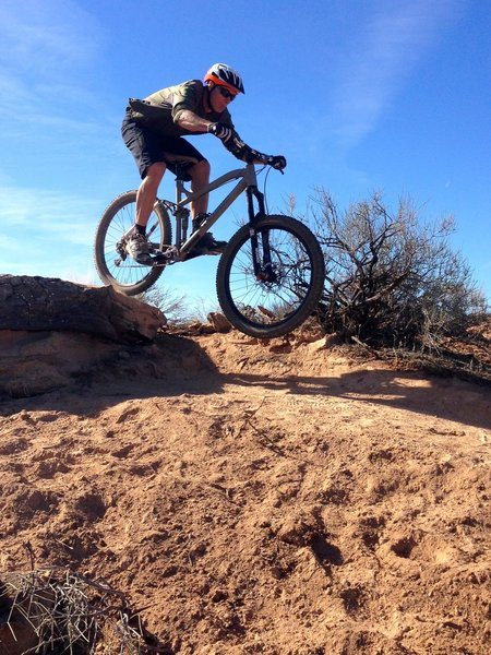 """Taking the """"Difficult"""" line on Dead Ringer Trail"""