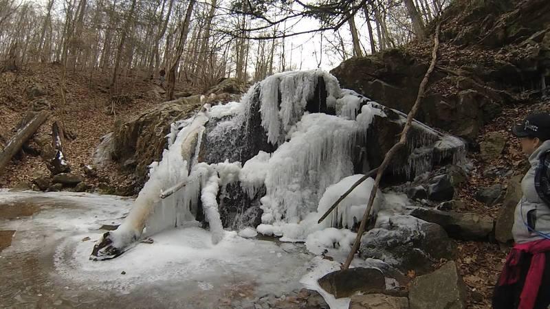 Cascade Falls frozen - winter 2014/2015