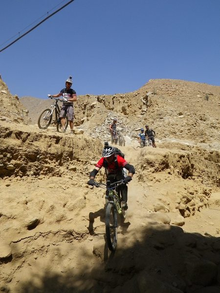 The last of the steep section of Olleros downhill.