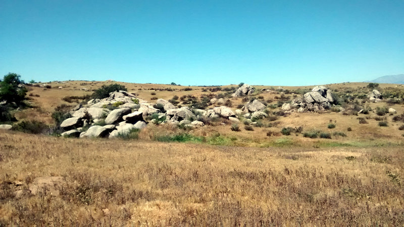 Typical view: rideable rocks