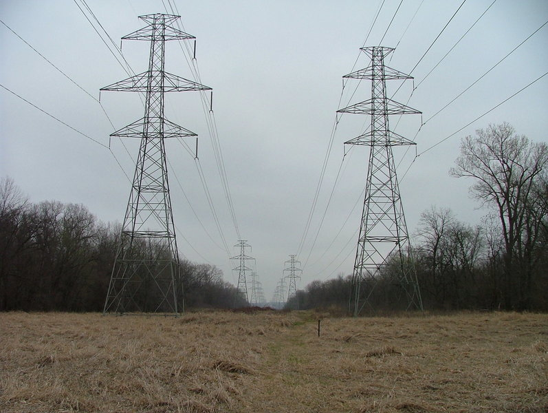Power lines on the Sycamore North Trail
