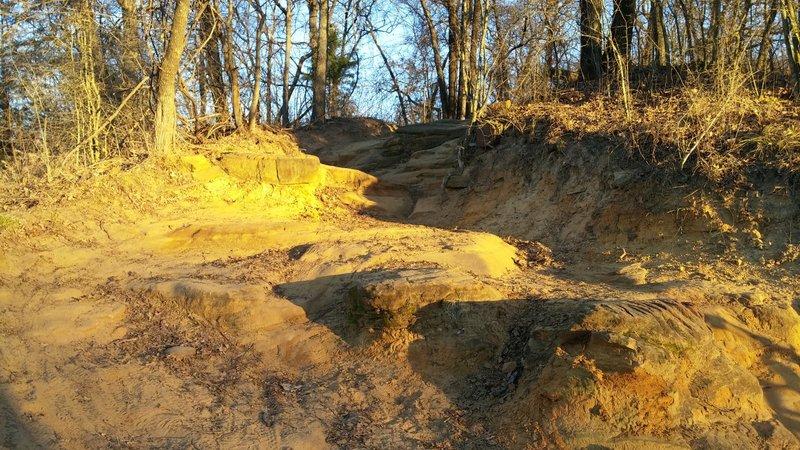 Triple step climb, west side Northshore trail, Flower Mound Texas