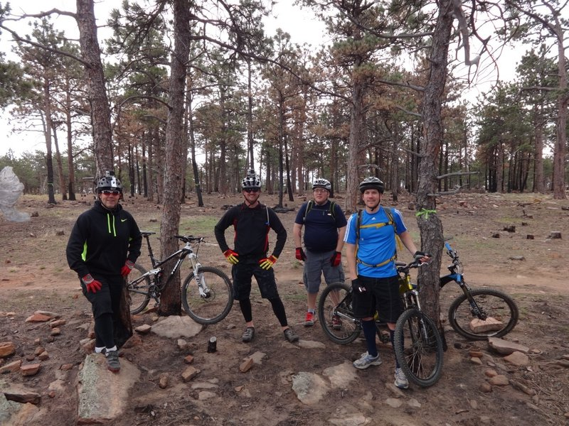The group at the top of Heil Ranch Trail
