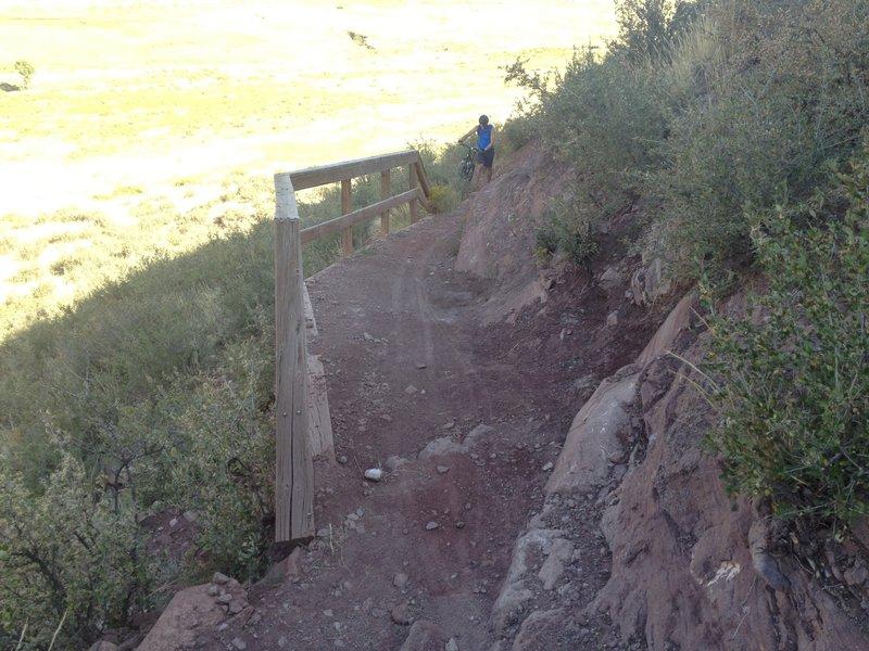 Fun downhill on Devil's Backbone Loop trail!