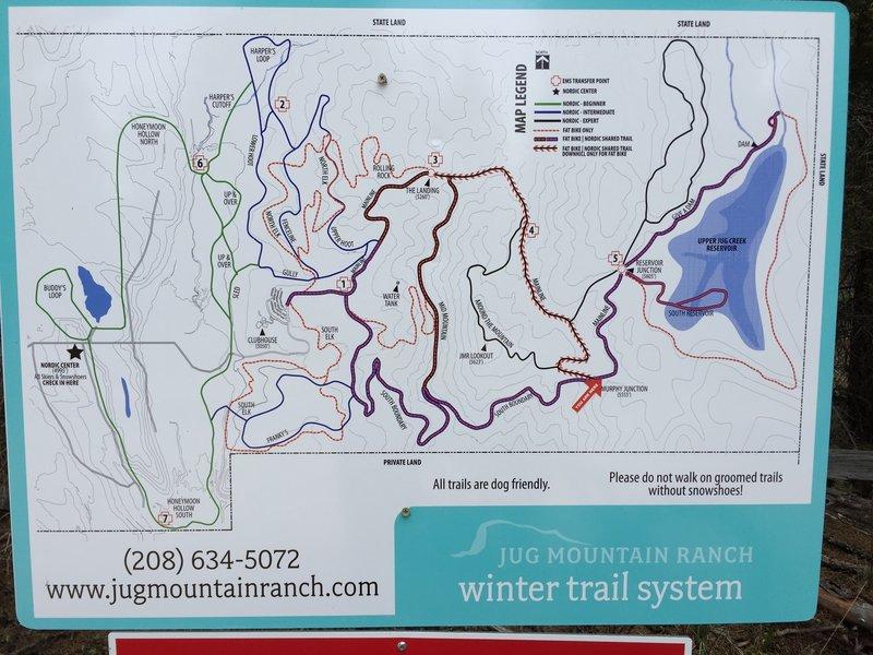 Jug Mountain Ranch Trail map