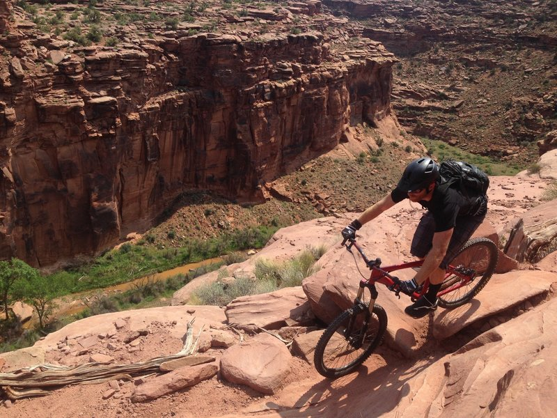 There's some serious exposure along sections of Ahab, but it's hard NOT to ride it with trail like this!