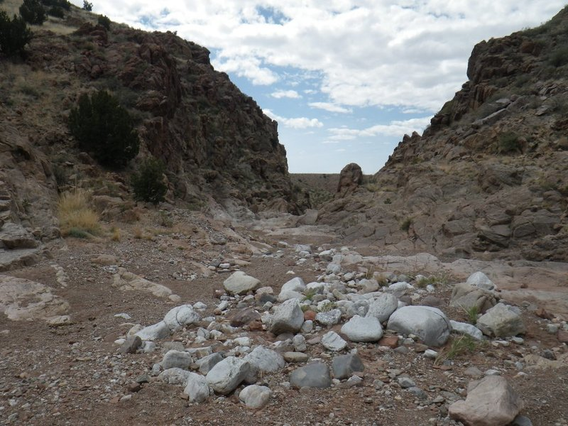 Entrance to the Box Canyon