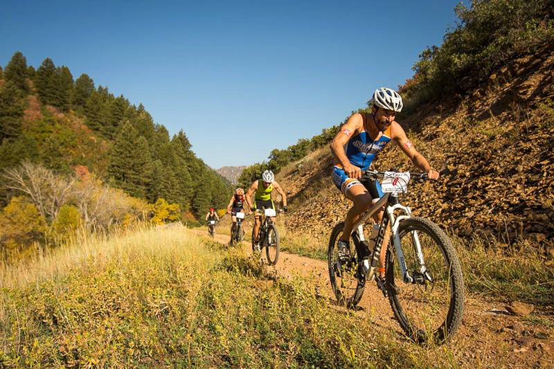 The competition is fierce during an XTERRA nationals event!