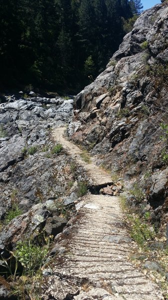Old Trail ends in extremely rocky section, I couldn't ride it but maybe you can