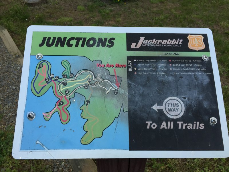 Example of trail sign at trailhead.