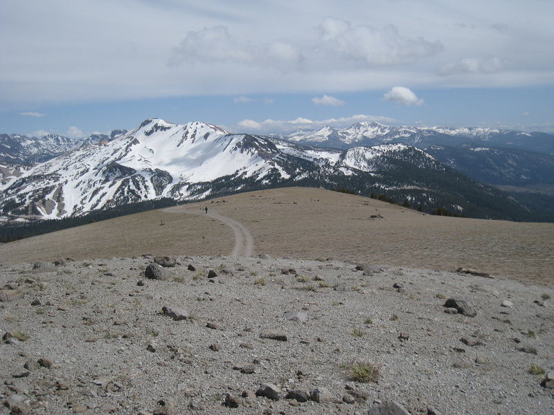Looking down from Deadman Pass.