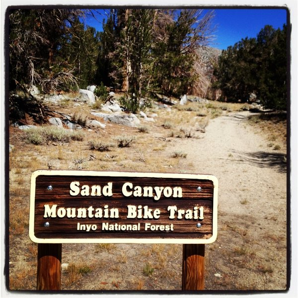 Getting ready to shred the Sand Canyon Trail