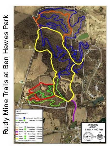 Rudy Mine Trail - Trail Map