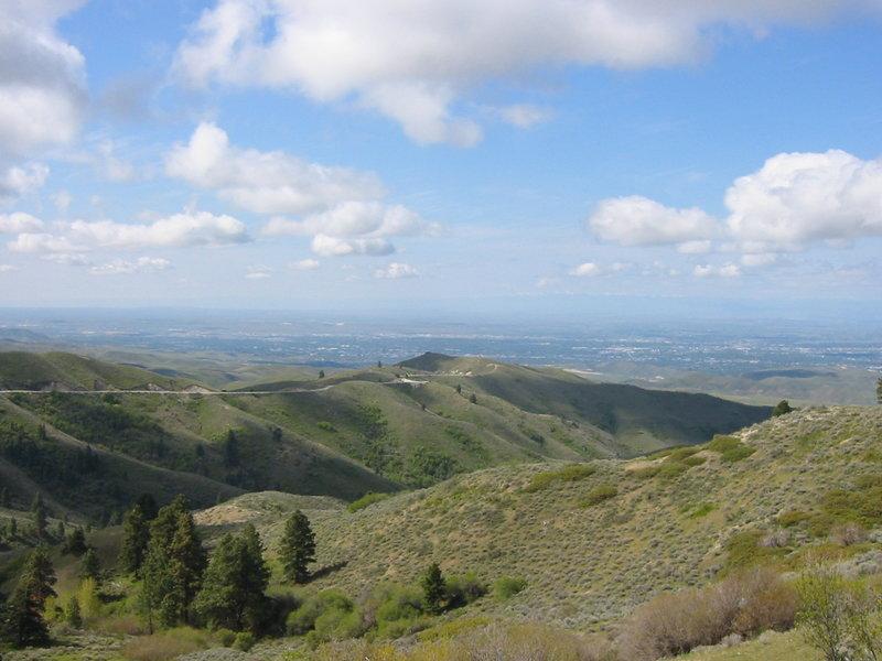 The saddle view towards Boise.